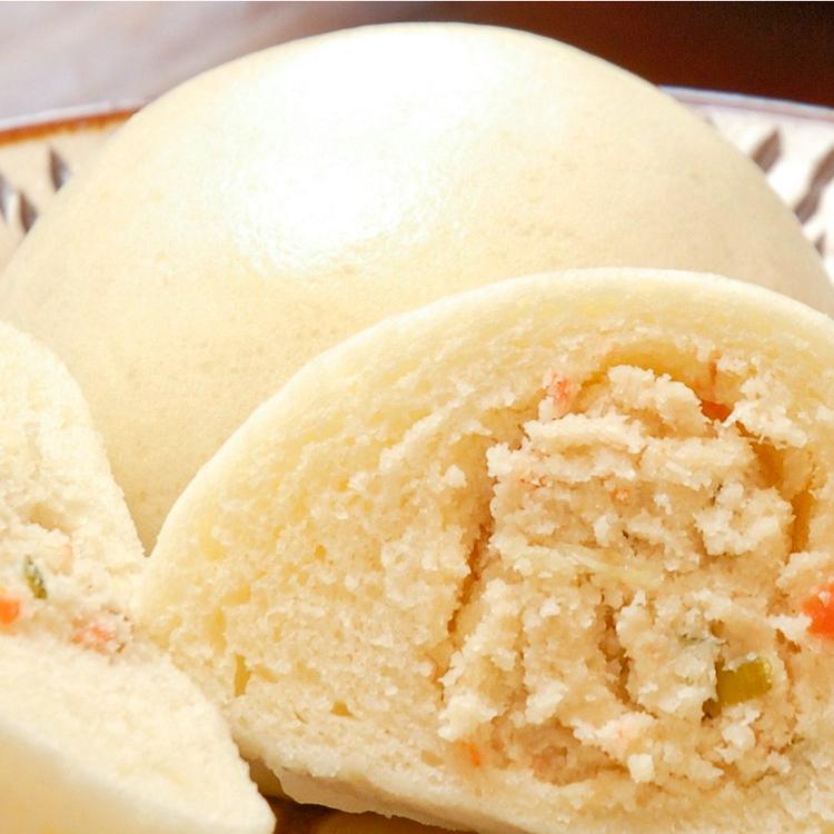 中華風のおから餡が人気の「とうふまんじゅう」