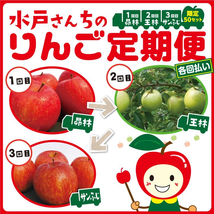 (各回払いコース)水戸さんちのりんご定期便