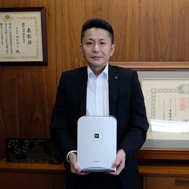 (株)フジコー代表取締役社長 萩尾寿昭氏