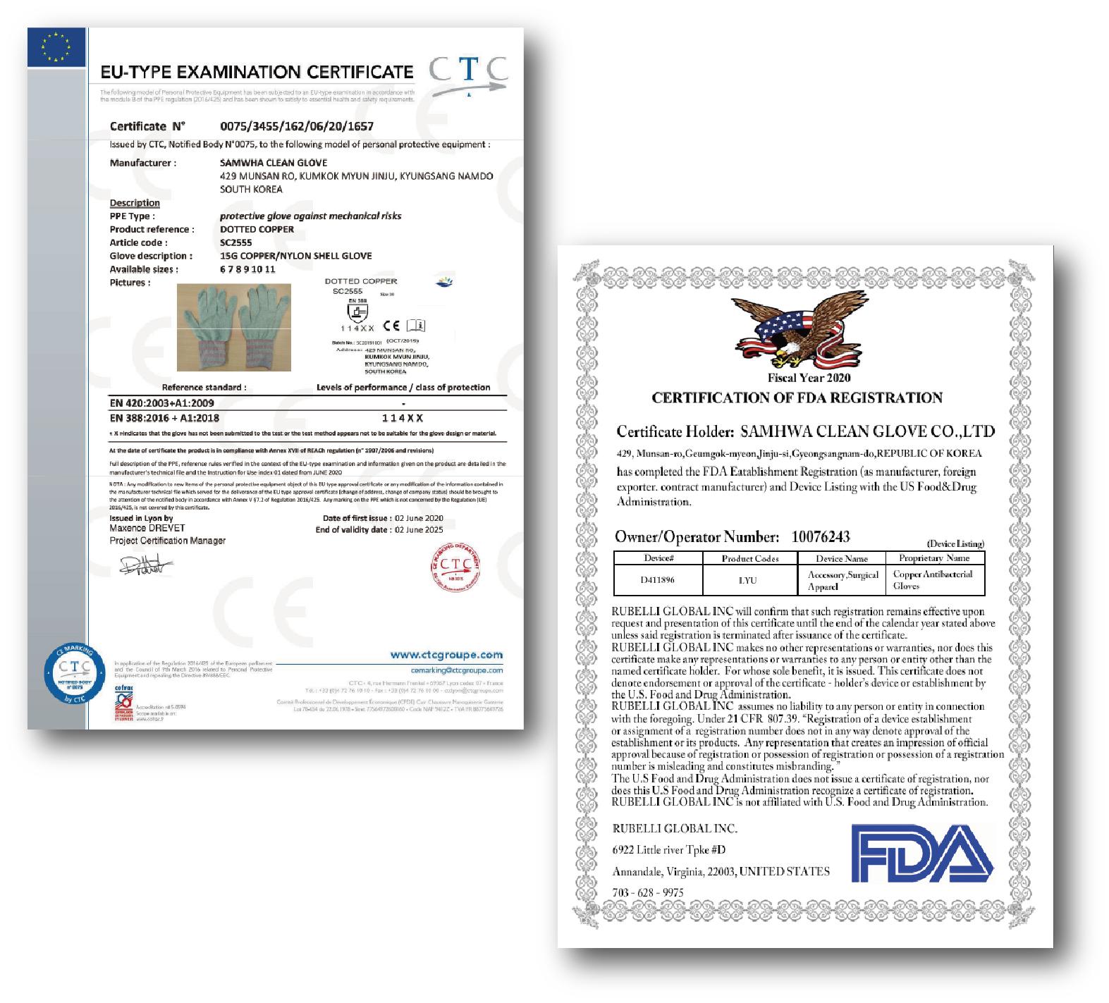 韓国FITI試験研究院の品質管理テストに合格