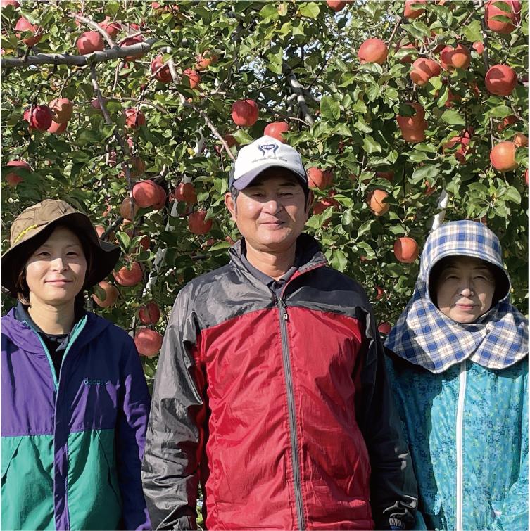 樹上でりんごを完熟させる津軽のエコファーマー成田英雅さん